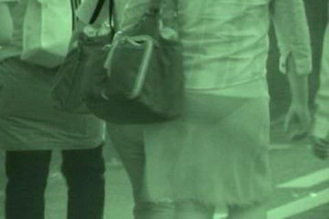 赤外線カメラの威力が半端ない!スケスケおっぱいや下着の街撮りエロ画像 269