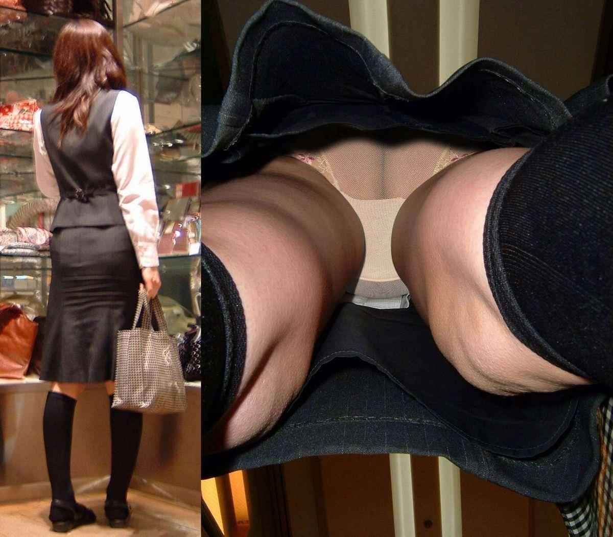 街ですれ違った女のパンツが無性に見たい欲求を満たしてくれる逆さパンチラ画像 3511