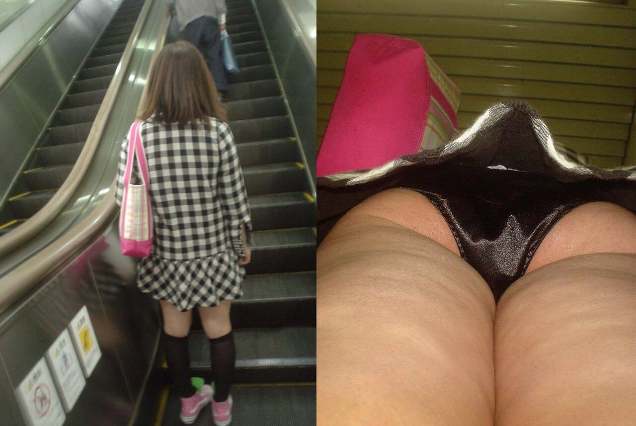 街ですれ違った女のパンツが無性に見たい欲求を満たしてくれる逆さパンチラ画像 3711