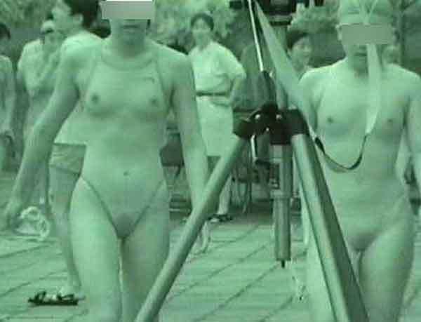 赤外線カメラさんは良い仕事してる透けおっぱい透けマン毛の水着エロ画像 650