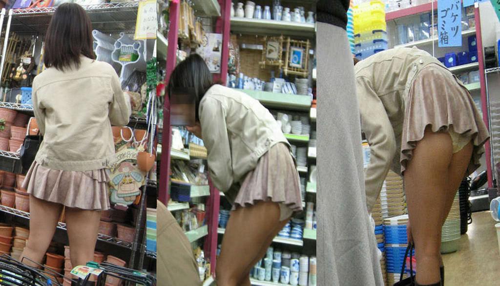 露出趣味のある人妻が旦那と共謀して公共の場で前かがみパンチラ撮影してる素人エロ画像 8106