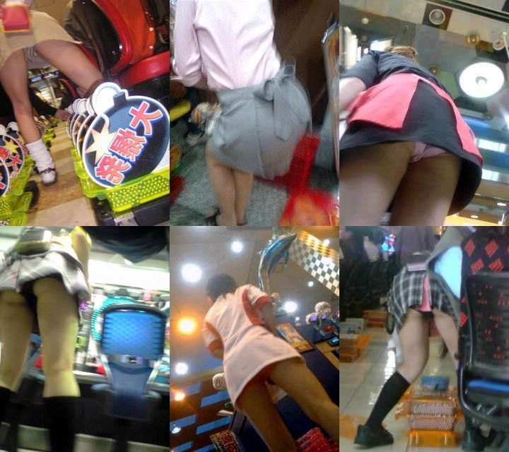 パチンコ店で働く素人お姉さんの逆さ撮り、ローアングルパンチラ画像!!!!!!!!! 0830