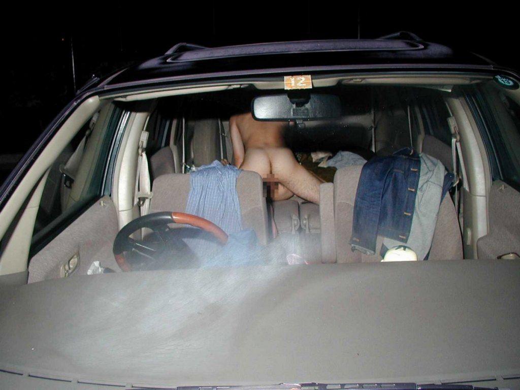 ガチでカーセックスしてる素人カップル発見www激写流出させられたハメ撮りエロ画像 1267