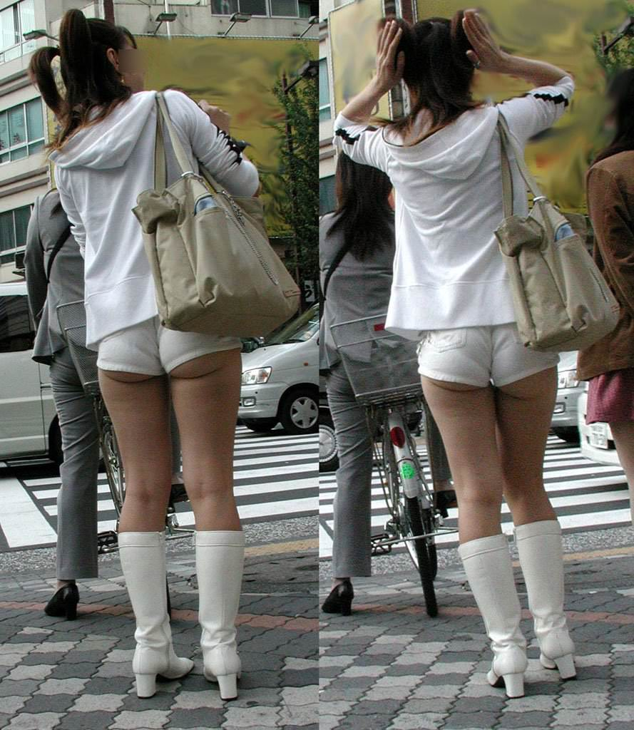 パンチラどころかプリッケツまでチラ見えしてる街撮りお尻の素人エロ画像 2213