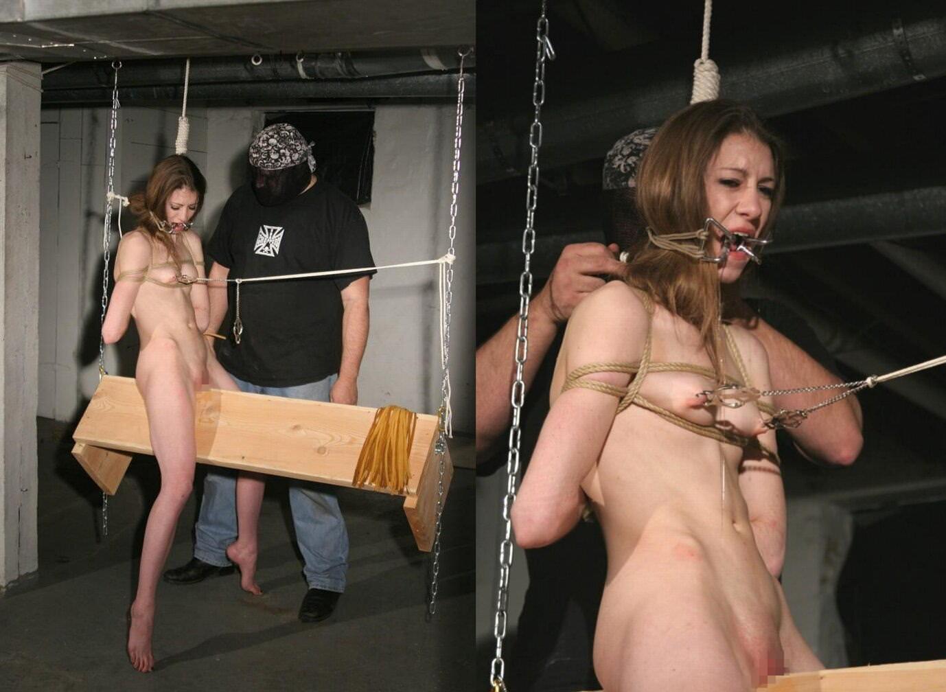 三角木馬で調教されてる美女がガチ絶叫wwwwの拷問SMエロ画像 1284