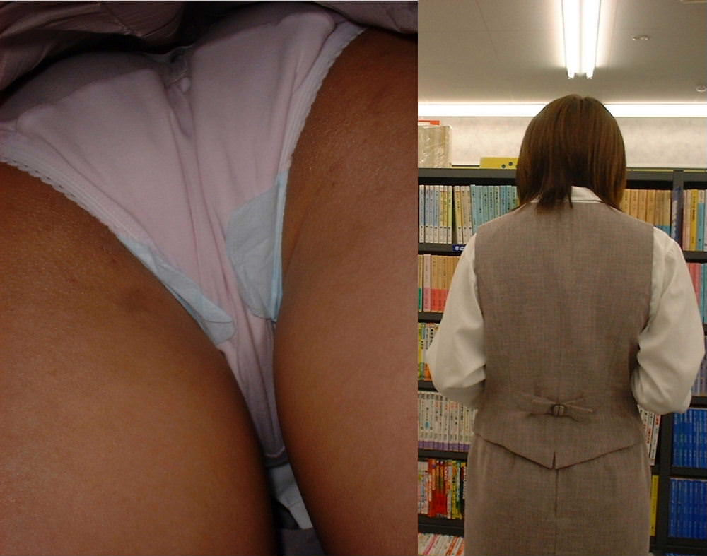 立ち読みに集中し過ぎて気付かない素人娘を逆さ撮りwwwwwパンチラエロ画像 1375