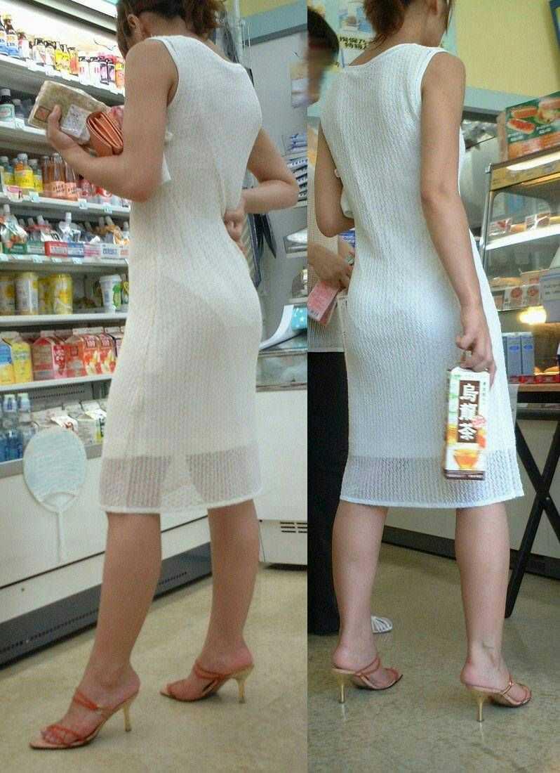 見せパン見せブラかな!?透けすぎだろwwww女子の素人街撮り画像wwwww 1614 1