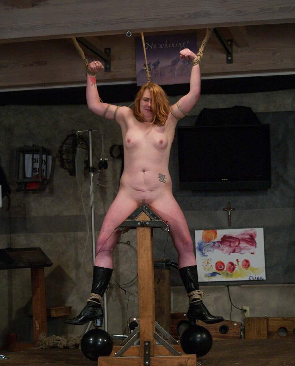 三角木馬で調教されてる美女がガチ絶叫wwwwの拷問SMエロ画像 1674