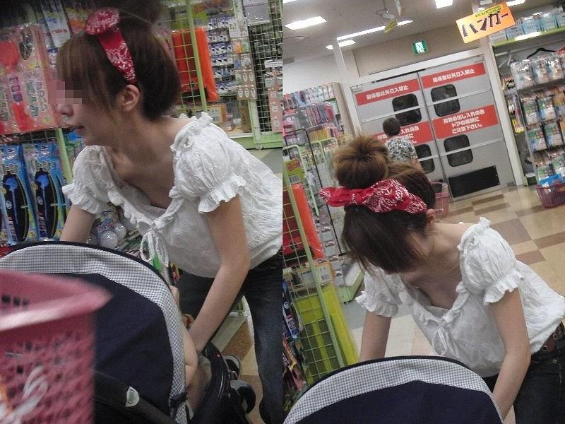 子供産んで巨乳になった素人妻wwwww街撮り胸チラおっぱいいっぱいエロ画像 2117