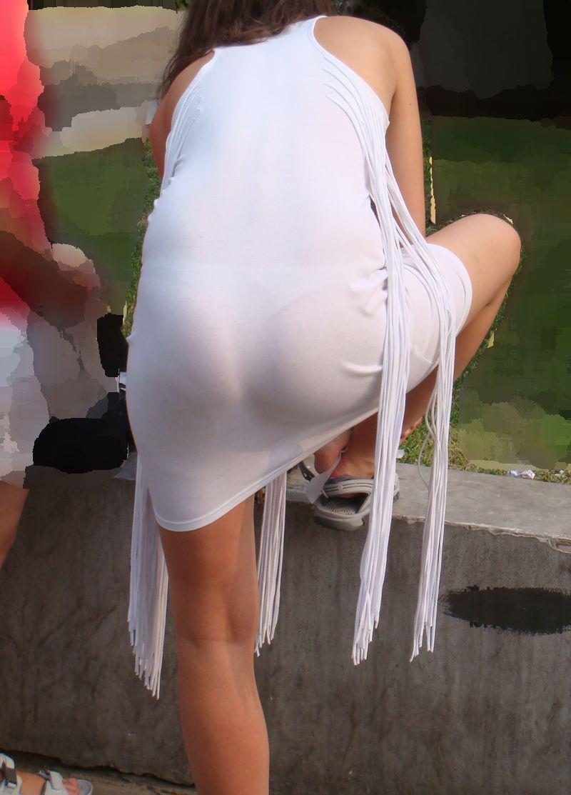 素人のエッチなお尻とパンツが透けてるwwww街撮りエロ画像 2323