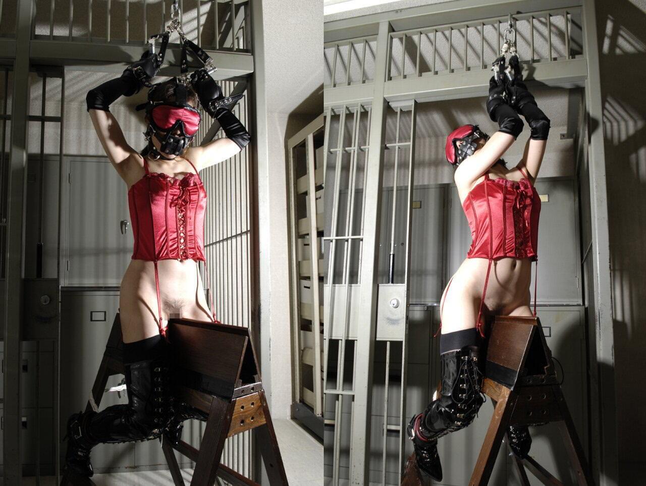 三角木馬で調教されてる美女がガチ絶叫wwwwの拷問SMエロ画像 479