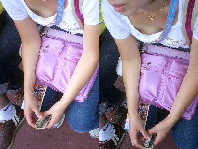 バレない角度から素人女子の胸チラ凝視wwww街撮りエロ画像 3016