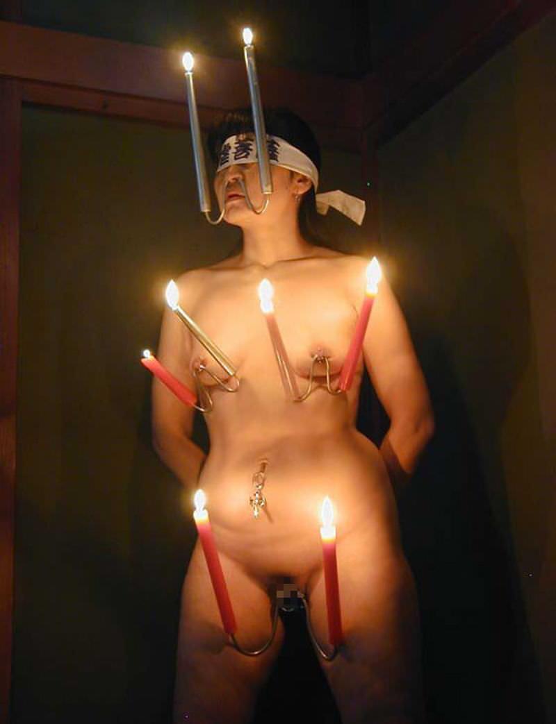 被虐的な事で性的興奮を呼び起こすドM変態女のローソクプレイエロ画像 3216