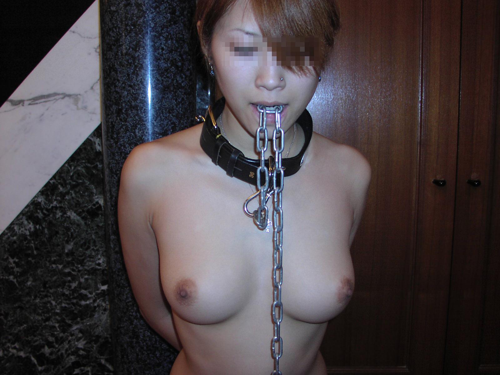 実の妻をに首輪をつけて飼いならし変態プレイ調教するSM素人エロ画像 715