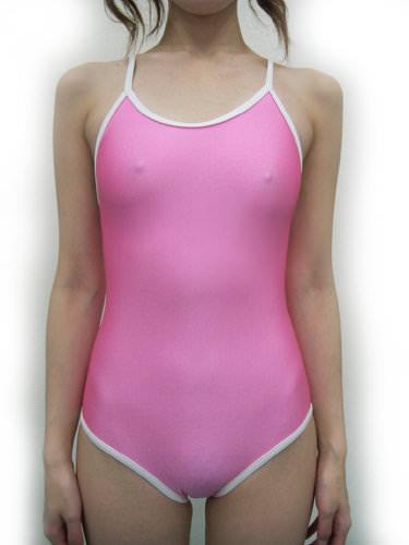 アンダーショーツなしの水着が透けてるwwwwマン毛やマン筋や乳首の素人エロ画像 55