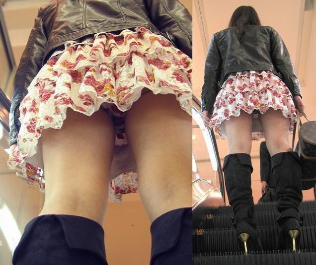 油断する素人女性のパンツをガチ隠し撮り!!!エスカレーターはパンチラ天国wwww 1020