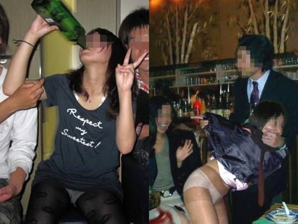 合コンやコンパで酔いつぶれてドエロになってる素人娘のエロ画像 1163