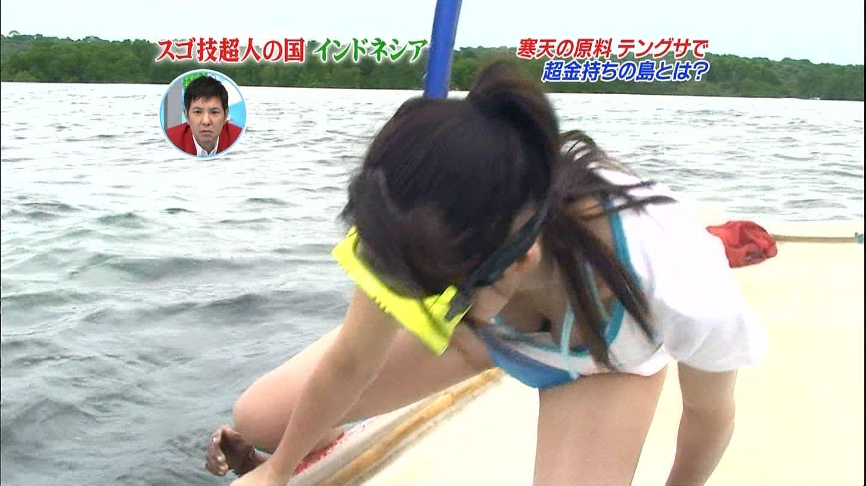 放送事故!おっぱい胸チラしてるテレビハプニングのエロ画像 265