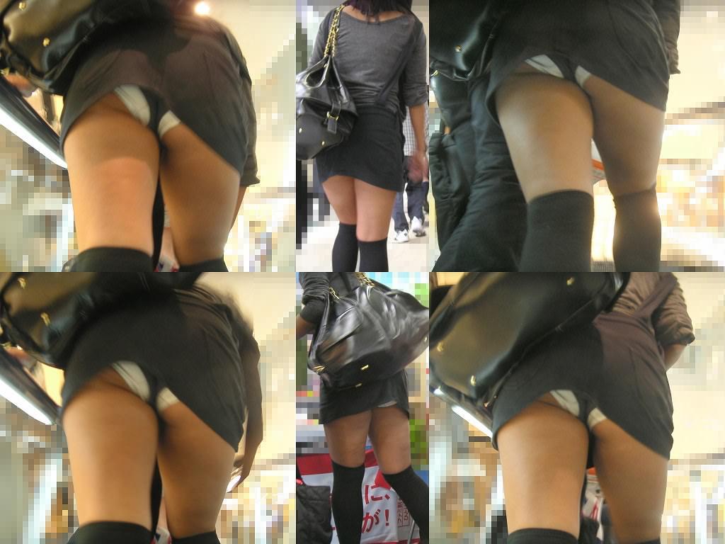 油断する素人女性のパンツをガチ隠し撮り!!!エスカレーターはパンチラ天国wwww 268