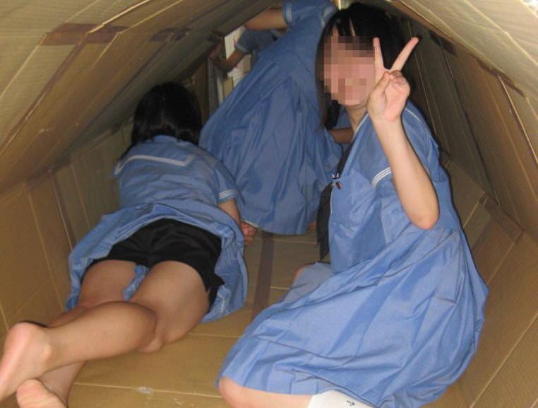 女子校生がパンチラでハーパン履いてたエロ画像 3014