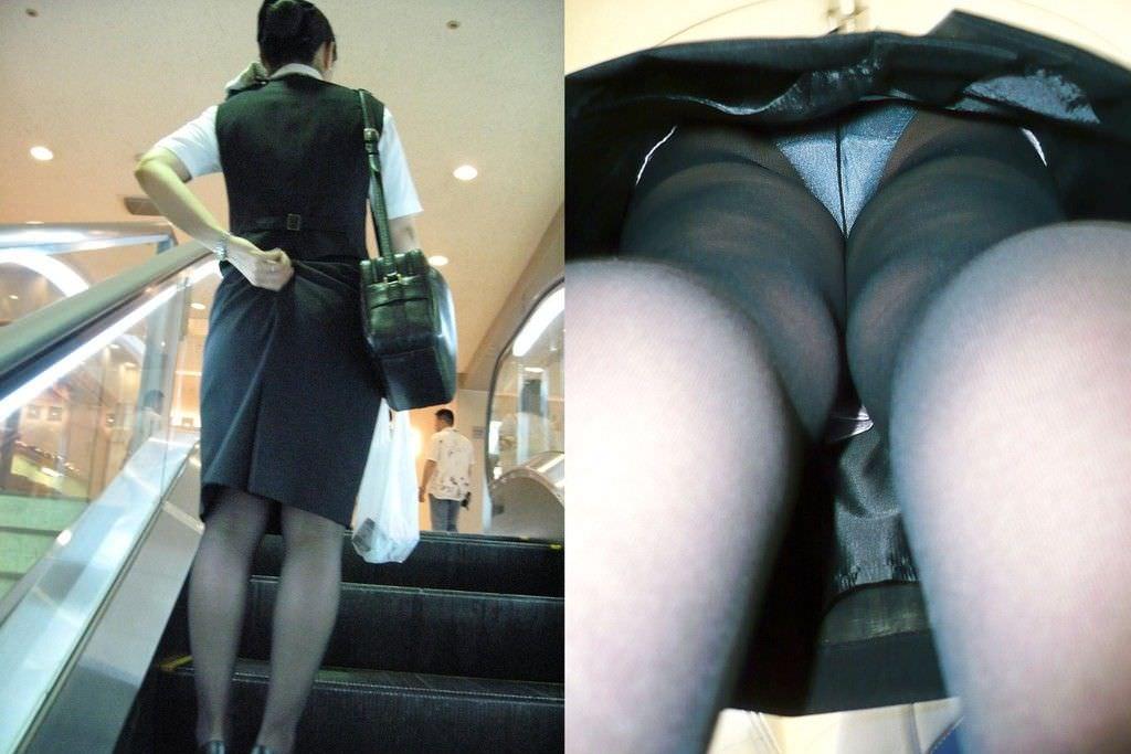 油断する素人女性のパンツをガチ隠し撮り!!!エスカレーターはパンチラ天国wwww 720