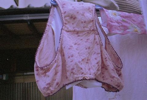 クロッチに染み付いた匂いが洗濯物から匂いそうなガチ盗撮下着エロ画像 1024