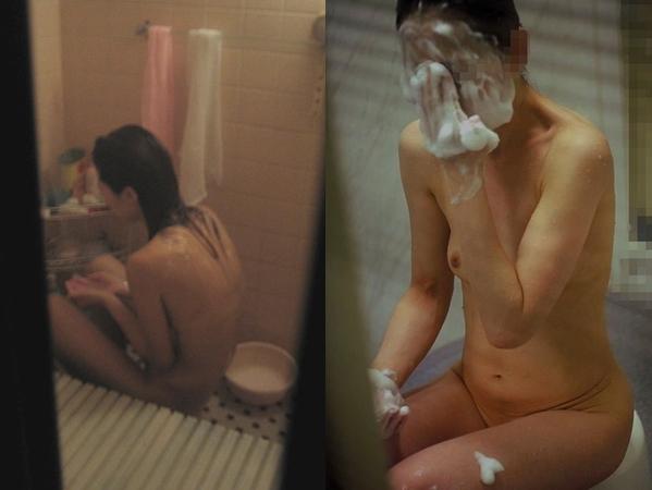 アパートや民家のお風呂をガチ盗撮した入浴女子の素人エロ画像 1103