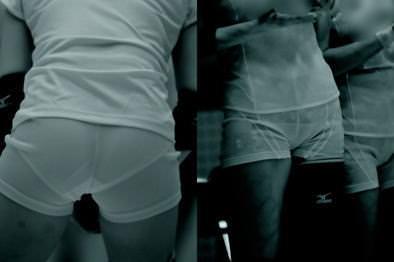 赤外線カメラ半端ない!!女子バレー選手のパンツとブラが透けまくってるスポーツ系エロ画像 1133