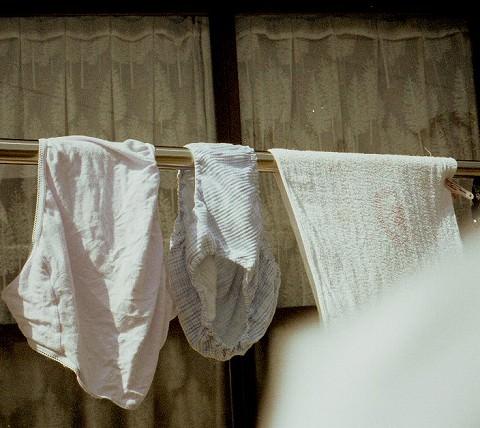 クロッチに染み付いた匂いが洗濯物から匂いそうなガチ盗撮下着エロ画像 1324