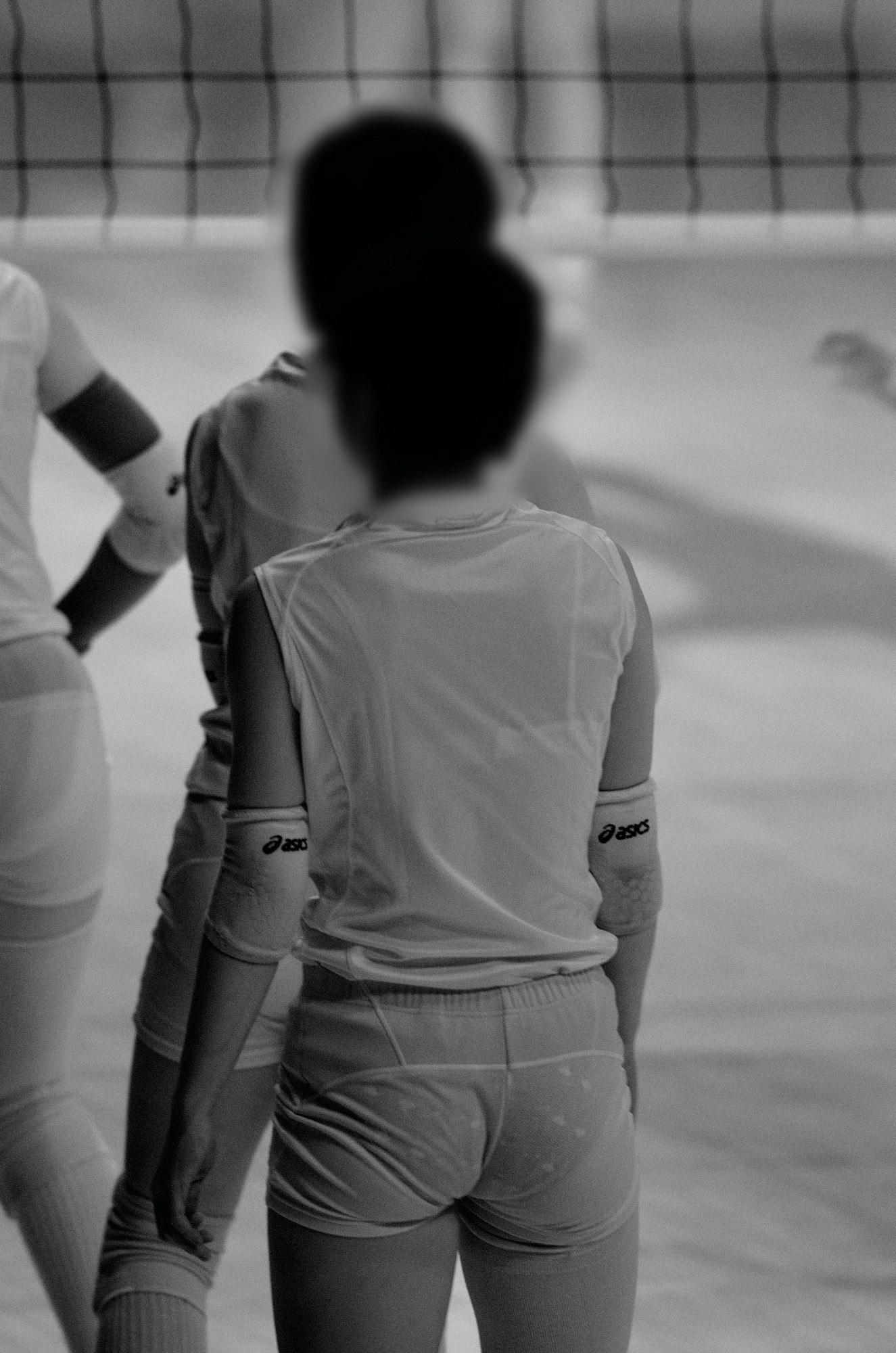赤外線カメラ半端ない!!女子バレー選手のパンツとブラが透けまくってるスポーツ系エロ画像 3614