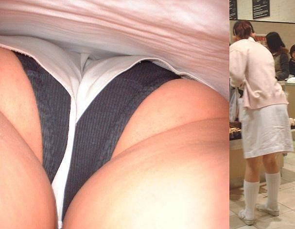 スケベな病人がナースのスカートの中身をガチ盗撮したパンチラ素人エロ画像 79