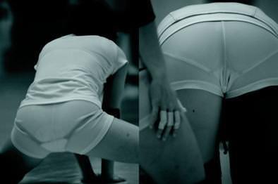 赤外線カメラ半端ない!!女子バレー選手のパンツとブラが透けまくってるスポーツ系エロ画像 927