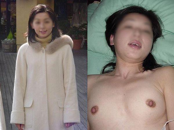 私服と全裸の比較を不倫間男にネット投稿された素人妻達だぁーwww見比べるとエロさが増してヤバいwww 01 4