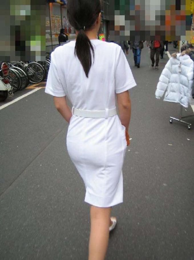 【ナース隠し撮り】いい匂いがする看護婦さんの透けパンツを街撮り激写wwwww 0603
