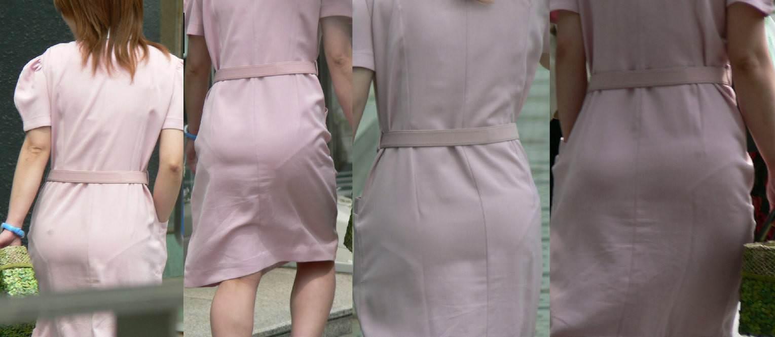 【ナース隠し撮り】いい匂いがする看護婦さんの透けパンツを街撮り激写wwwww 0606