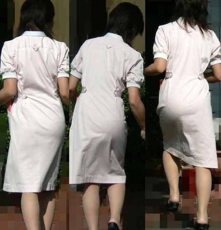 【ナース隠し撮り】いい匂いがする看護婦さんの透けパンツを街撮り激写wwwww 0612