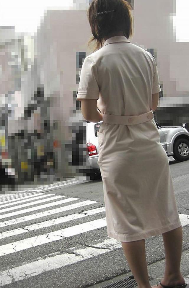 【ナース隠し撮り】いい匂いがする看護婦さんの透けパンツを街撮り激写wwwww 0616