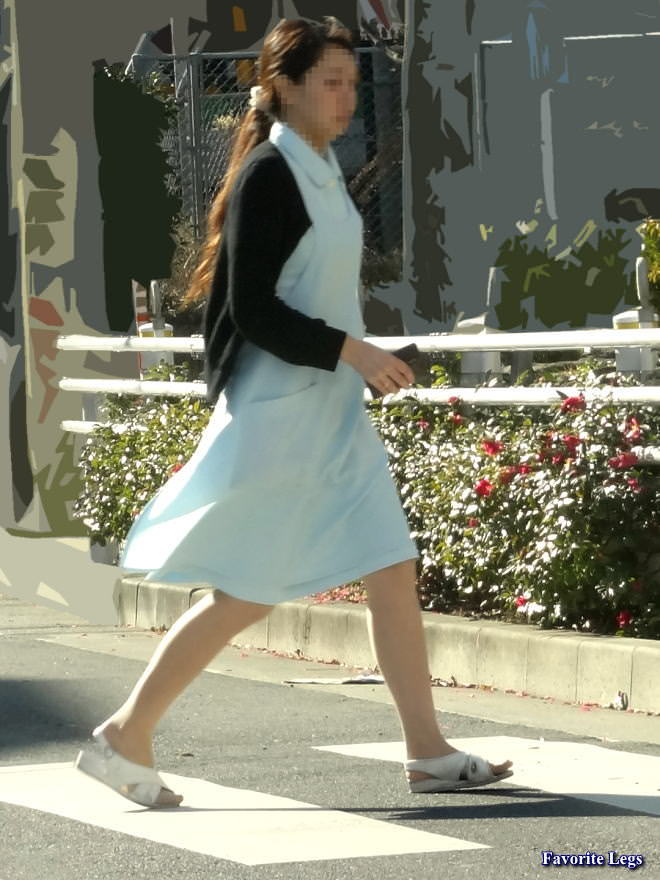 【ナース隠し撮り】いい匂いがする看護婦さんの透けパンツを街撮り激写wwwww 0622