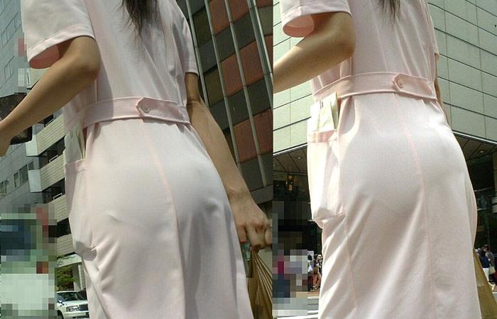 【ナース隠し撮り】いい匂いがする看護婦さんを街撮り激写wwwww(透けパンツ有) 0625