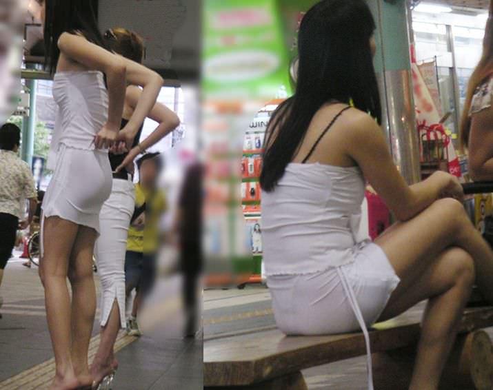 【盗撮23枚】パンティー透けてるのに気付いてない薄着女子を街撮りゲットwwwww 0141