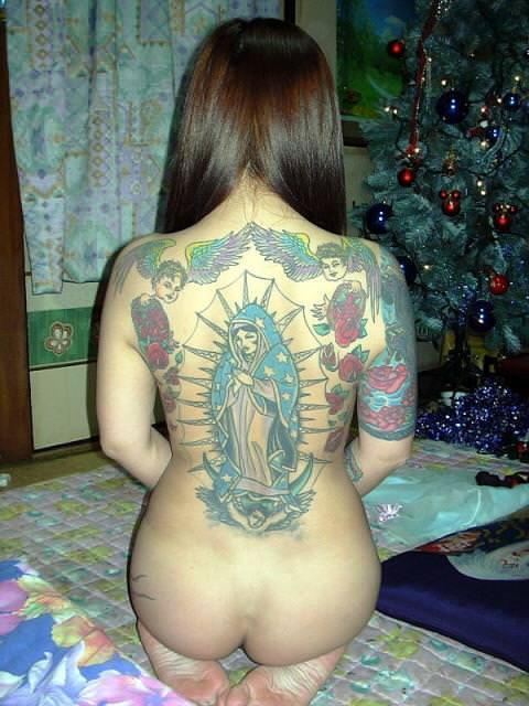 和彫りの刺青が入った素人女子の裸体がイカツ過ぎるけどビビりながら抜くのが快感wwwww 2845