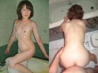 40代夫婦がラブホの風呂場エッチwww熟女エロモードMAXでハメ撮りだぜぇーwww
