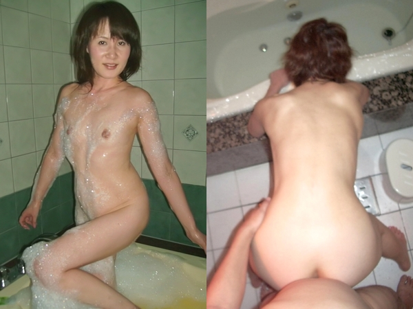 40代夫婦がラブホの風呂場エッチwww熟女エロモードMAXでハメ撮りだぜぇーwww 01 21