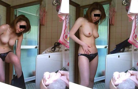 【素人流出】お風呂入る彼女が脱衣所で脱ぐ姿が大好き過ぎるwwwww 1525