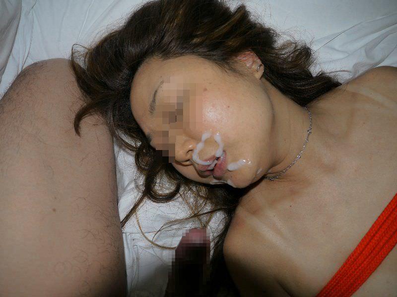 ザー汁ぶっかけに不慣れな素人娘に精子をたっぷりぶっかけた結果wwww 0155