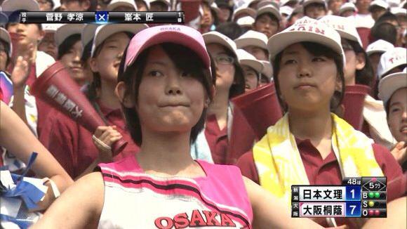甲子園で応援するチアガールの脇とか太もものエロ画像wwwww 1231