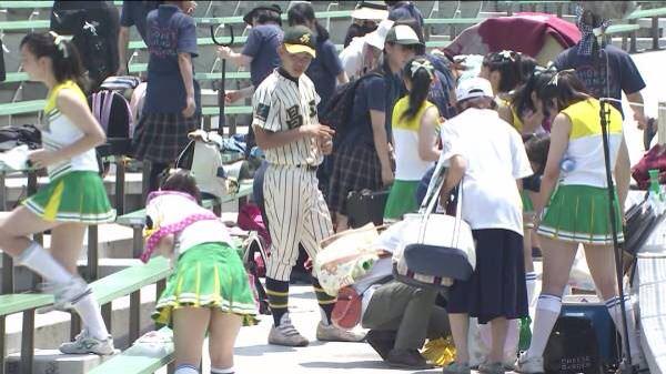 甲子園で応援するチアガールの脇とか太もものエロ画像wwwww 1243