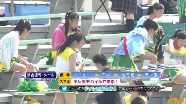 甲子園で応援するチアガールの脇とか太もものエロ画像wwwww 1247