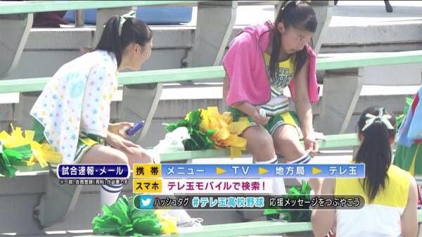 甲子園で応援するチアガールの脇とか太もものエロ画像wwwww 1248