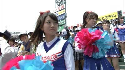 甲子園で応援するチアガールの脇とか太もものエロ画像wwwww 1250